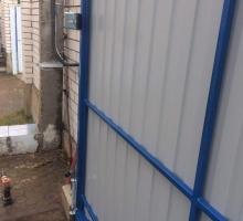 Откатные ворота в д. Ждановичи