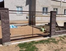 Откатные ворота в г. Вилейка