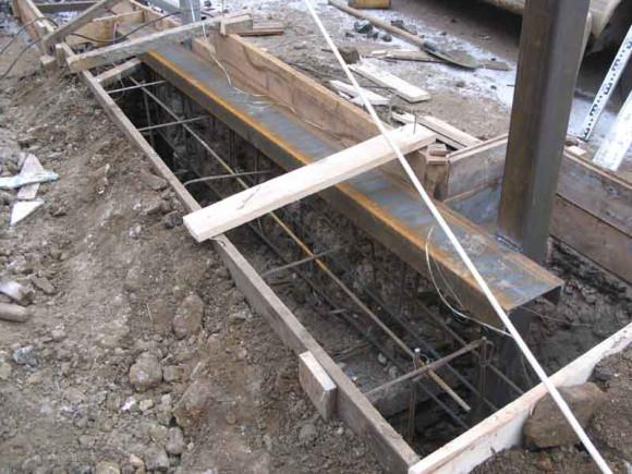 Фундамент для ворот раздвижного типа