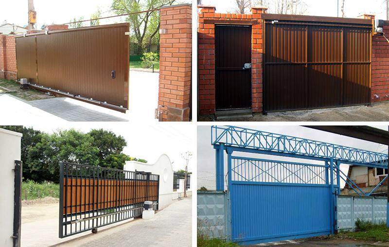 Разновидности раздвижных ворот
