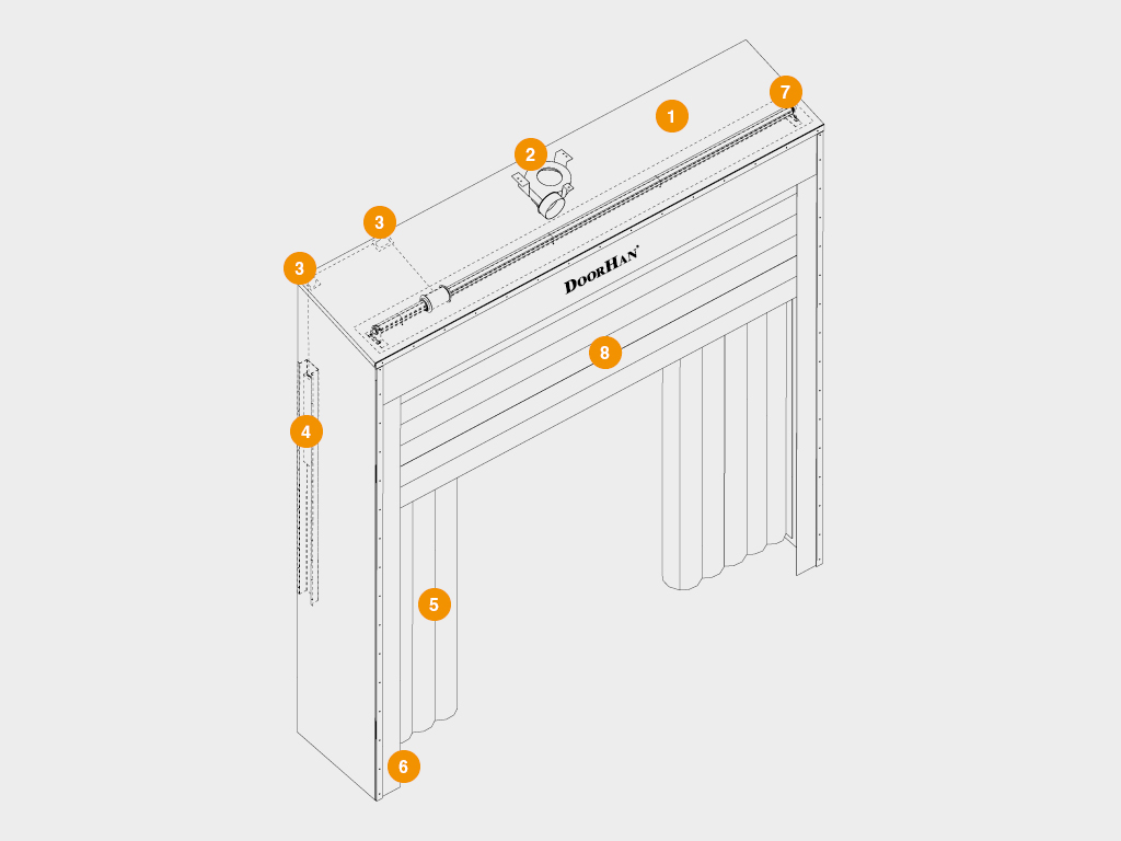 Конструкция надувного докшелтера