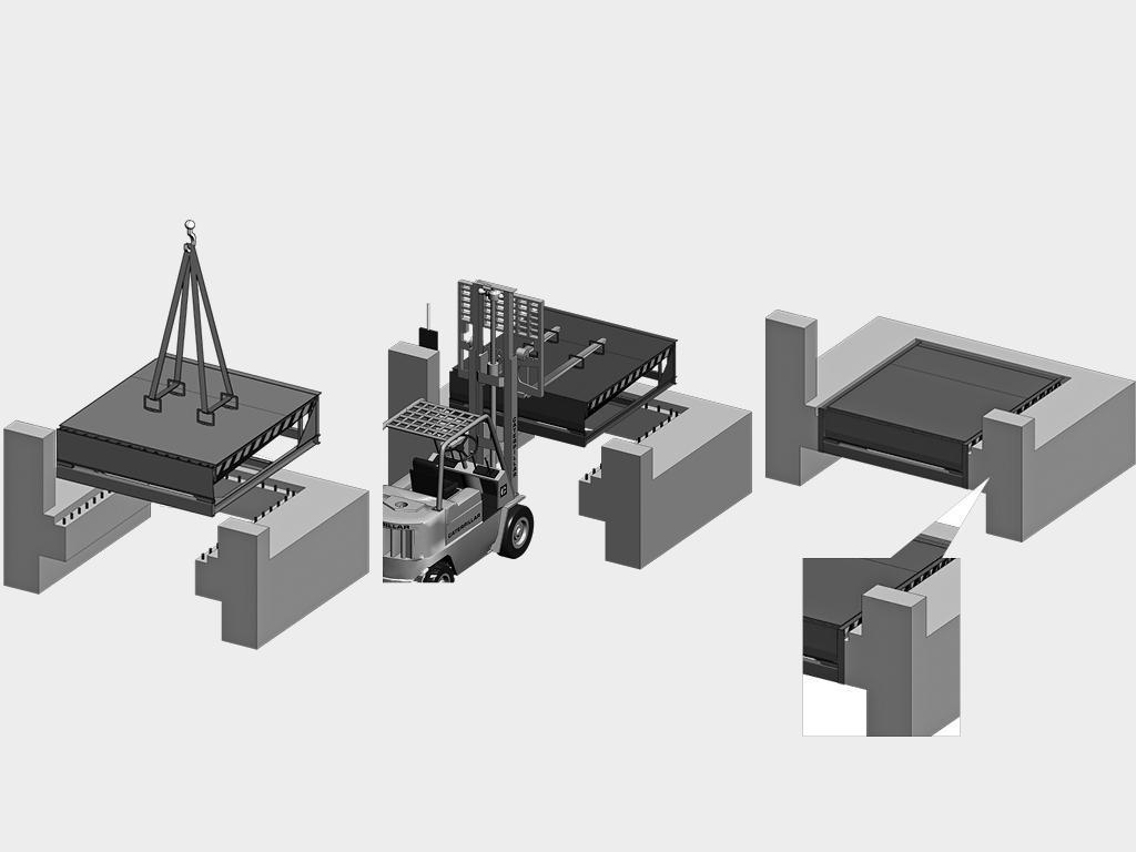 Подвесной монтаж механической уравнительной платформы