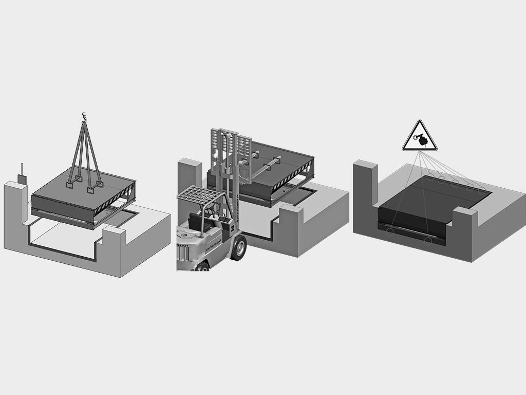 Встроенный монтаж механической уравнительной платформы