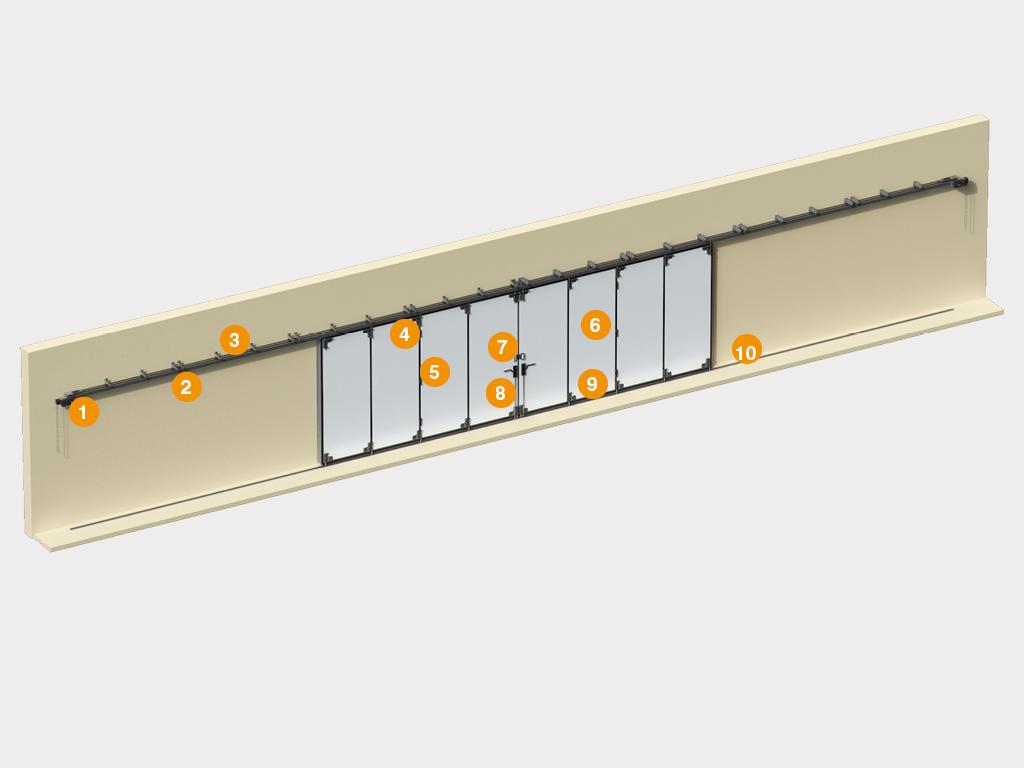 Конструкция откатных ворот с нижней направляющей