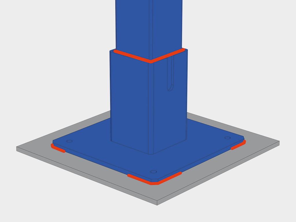 Монтаж тамбура на закладные элементы