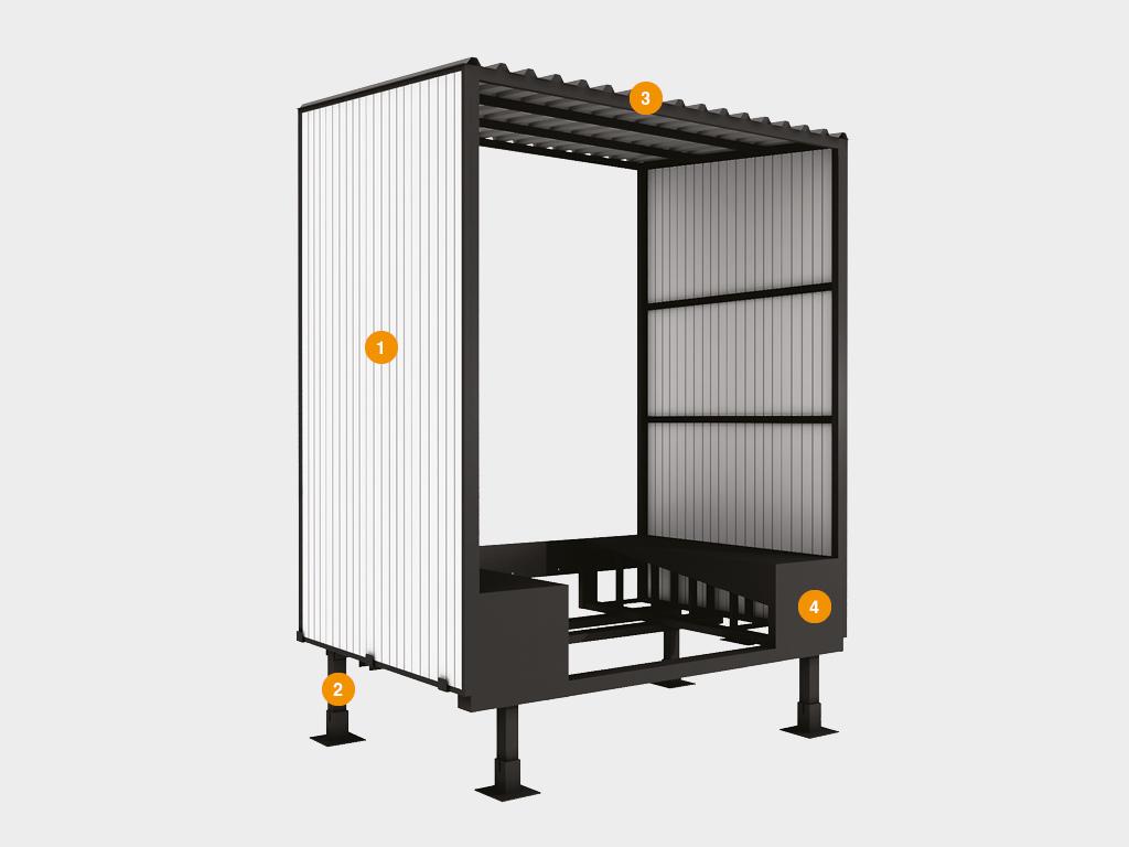 Конструкция перегрузочного тамбура DoorHan стандартной серии