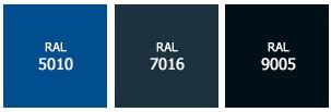 Цвета выносной фермы Alutech по каталогу RAL